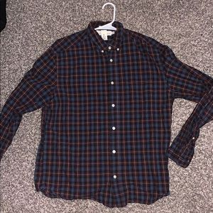 Red / Blue / Black button down shirt. Size Large